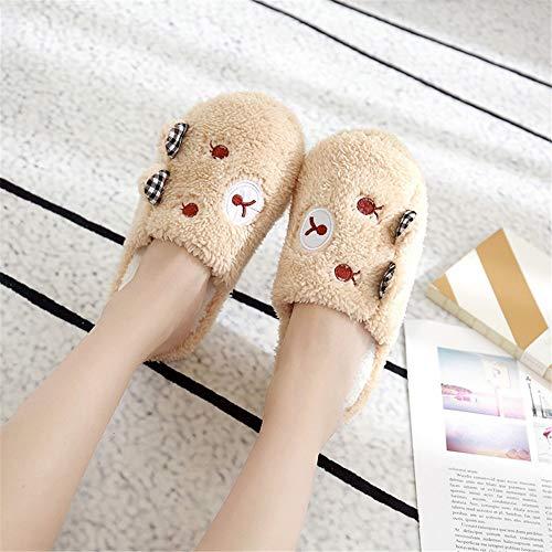 Oso Cálidas Female Zapatillas on Piel 36house De Wall Calzoncillos amp; Night Shoes Indoor Antideslizantes Para Invierno Slip Winter 4 Outdoor Cómodas Interiores nqSw6xBY4