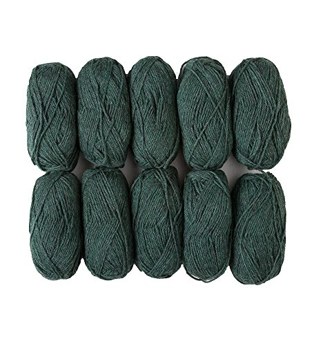 - Wool of The Andes Worsted Weight Yarn (10 Balls - Noble Heather)
