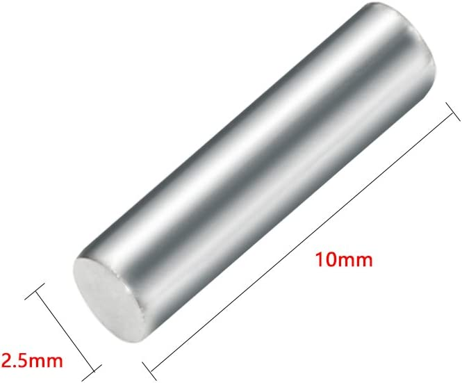 uxcell 20pcs Round Shaft Rods Axles 304 Stainless Steel 1.6mm x 45mm for RC Toy Car