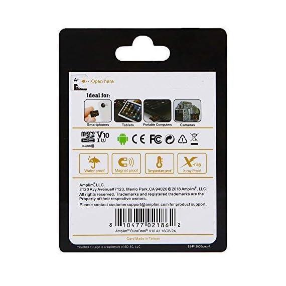 Amplim 256GB 128GB 64GB 16GB Micro SD SDXC V30 V10 U3 A1 Memory Card Plus Adapter Pack (Class 10 UHS-I MicroSD XC Extreme Pro) 64 GB Ultra High Speed 667X 100MB/s UHS-1 TF MicroSDXC 4K Video 6 CELL PHONE/TABLET COMPATIBILITY: Samsung Galaxy J2 Tab A Note8 Note 8 S8 S9 Plus S8+ Active S7 S5 S6 J7 V Max edge J5 J3 Emerge Perx E5 Prime Z4 Amp Express 2 Xcover 4 Tab S3 S2 E A Book 8.0 S2 9.7 View C7 C9 Pro A7 A5 A3 Eclipse Note5 On5 Amp 2 Halo; LG V30 V30+ V20 V10 X charge Q8 Q6 G6 G6+ G5 G4 X K8V venture Stylo 2 3 Power Harmony K20 V Fortune Phoenix 3 G Pad X II F2; Amazon Kindle Fire HD, Microsoft Surface Pro 3 4; ASUS ZenFone V Live 4 Selfie Pro 3S 10 LTE Live AR 3 Zoom ZenPad Z10 Z8 Sony Xperia XZ Premium XA1 XZ1 Compact L1 XZS XCompact XA Z5 M5; HTC One U11 life Desire 555 U Play 530 625 10 A9; Motorola Moto X4 G5S Z Z2 Force Edition E4 Play G5 G4 Bolt Droid tab MAXX 2 TURBO 2; Huawei Honor 9 7X 6C 8 Pro View 10 V10 Mate 10 Lite Y6 Pro P8 P9 Lite P10 mini nova 2 Plus6A nova 2 Y7; OPPO F5 R11 F3; Xiaomi Redmi Y1 Lite Mi A1 Max 2 5 Note 4X; ZTE Blade X Force Vantage XL V8 Axon M Blade Zpad Nokia 2 8 3 5 6; Nintendo 2DS 3DS Alcatel IDOL 4 5 LED A7 A30 Tablet Fierce U5 HD Idol 5S A30 Plus A50 Pulsemix; BlackBerry KEYone PRIV; BLU Life One X2 Mini R1 Plus Tank Xtreme Dash L3 Vivo XL2; Razer Phone; nubia N2 N1 Lite;; ARCHOS 50 55 Graphite; FiGO Gravity; DuraForce PRO; Ellipsis 8 HD Gizmo Tab; Lumia 735 640 650 950 XL; AT&T Trek 2 HD G Pad X 8.3 8.0 F II 10.1 Lancet 626 626S; LG Exalt LTE Aristo K3 Fortune; Elipsis 10; ZTE Avid TRIO Overture Tempo X Prestige 2; Alcatel TRU FIERCE 4 ONETOUCH IDOL Revvl Plus