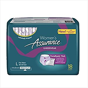 Assurance for Women Maximum Absorbency Protective Underwear with Comfort Shape, Large, 18-Count from Assurance