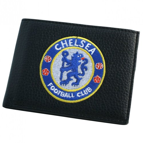 Chelsea Football Club Official Soccer Gift Embroidered Wallet Black ()