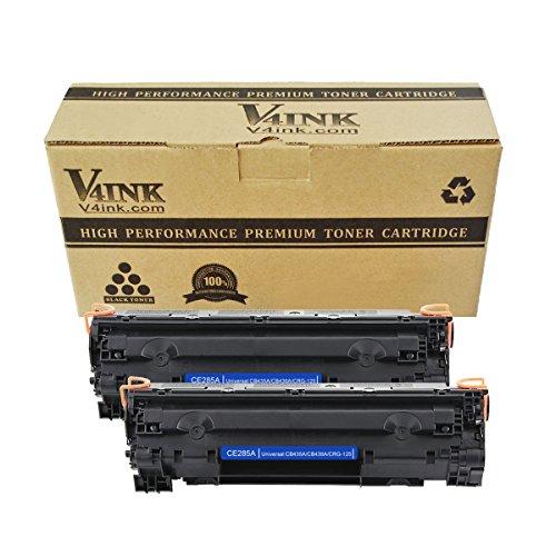 Cb436a Compatible Toner - 2 Pack V4INK Compatible CE285A 85A, Canon 125, CB435A 35A, CB436A 36A Toner Cartridge for LaserJet P1102, M1212, M1217, M1132, M1214