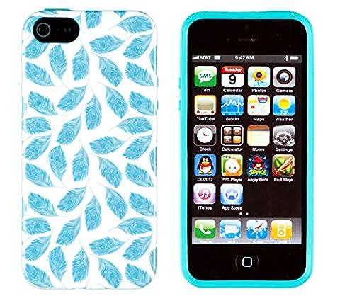 iPhone 4S Case, DandyCase PERFECT PATTERN *No Chip/No Peel* Flexible Slim Case Cover for Apple iPhone 4S / 4 - LIFETIME WARRANTY [Aqua Peacock (Iphone 4 Case Preppy)