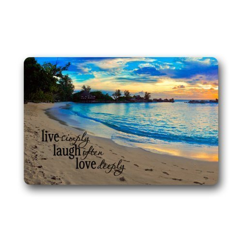 Beautiful Sunset Sea Beach With Funny Quotes Live Simply