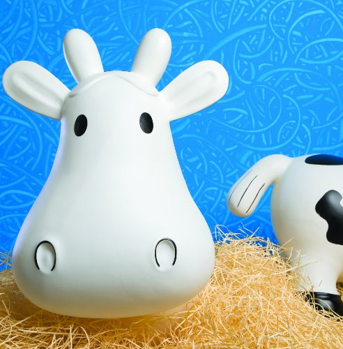 Trumpette Howdy Cow Kids Inflatable Bouncy Rubber Hopper Ride-On Toy White by Trumpette (Image #5)
