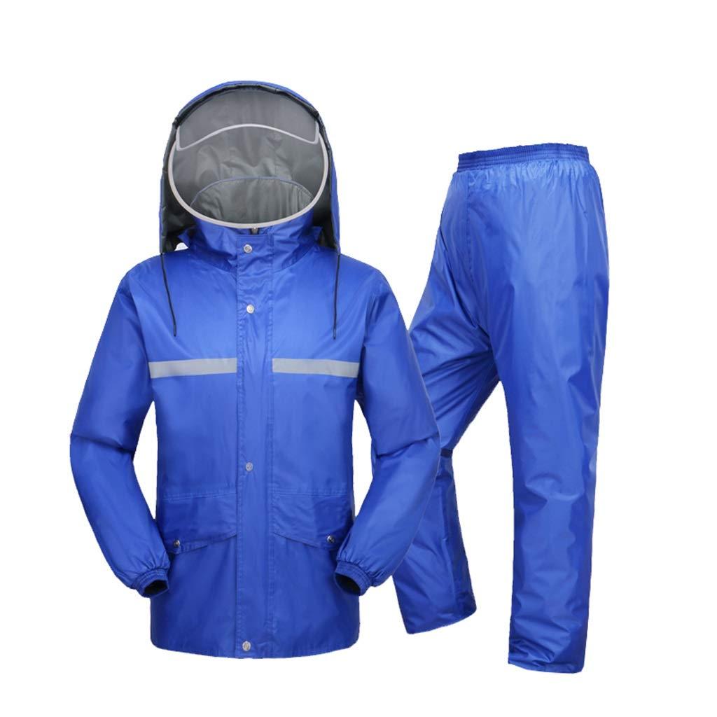 XXXXXL LAXF- Manteaux imperméables Combinaison de pluie pour hommes et femmes vêteHommests de pluie réutilisables (veste de pluie et pantalon de pluie ensemble) Adultes imperméable étanche à la pluie coupe-vent