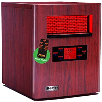 Amazon.com: NEW iHeater IH-1500 Wood Finish Quartz Infrared ...