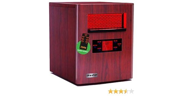amazon com new iheater ih 1500 wood finish quartz infrared portable