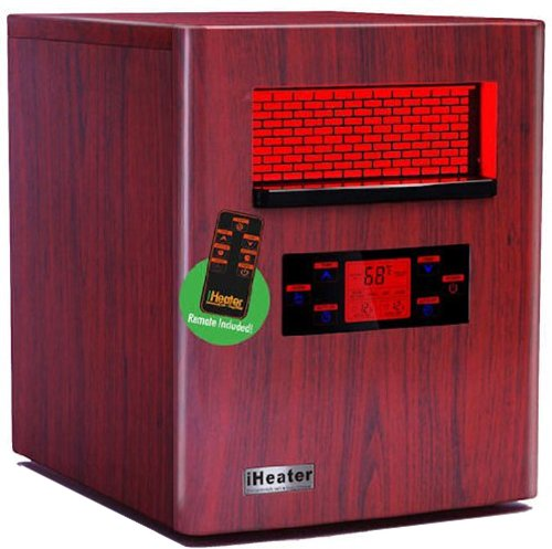 NEW iHeater IH-1500 Wood Finish Quartz Infrared Portable Home Heater iHeater Infrared Heaters