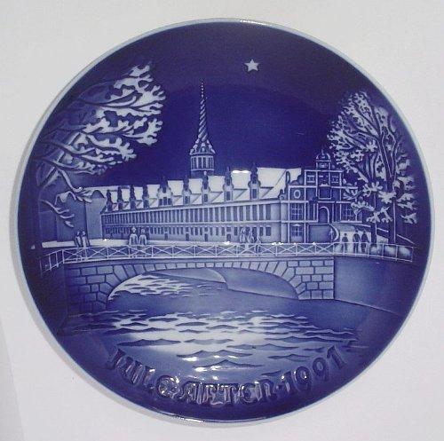 1991 Bing & Grondahl Christmas Plate (Copenhagen Stock Exchange) (1991 Christmas Plate)