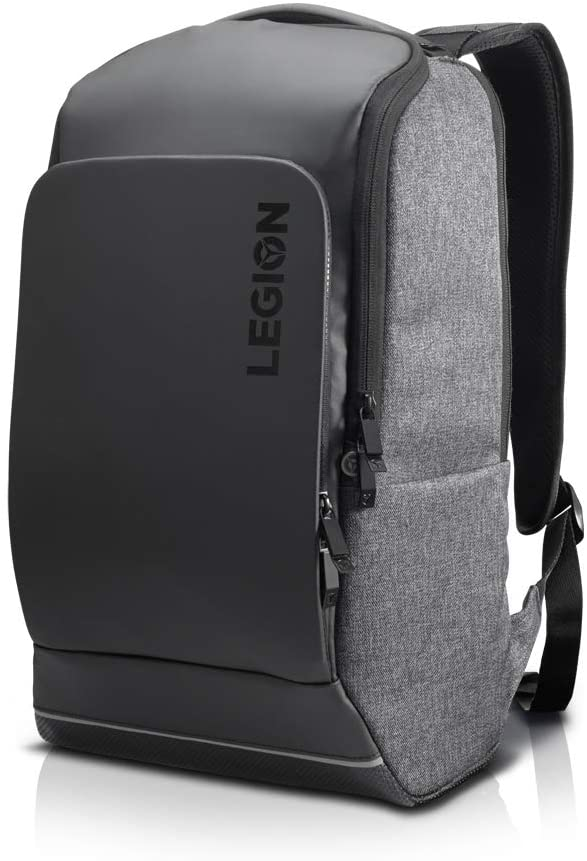 Lenovo Legion Recon 15.6 inch Gaming Backpack, sleek, modern, lightweight, water-repellent front panel, breathable back padding, for gamers, causal or college students, GX40S69333