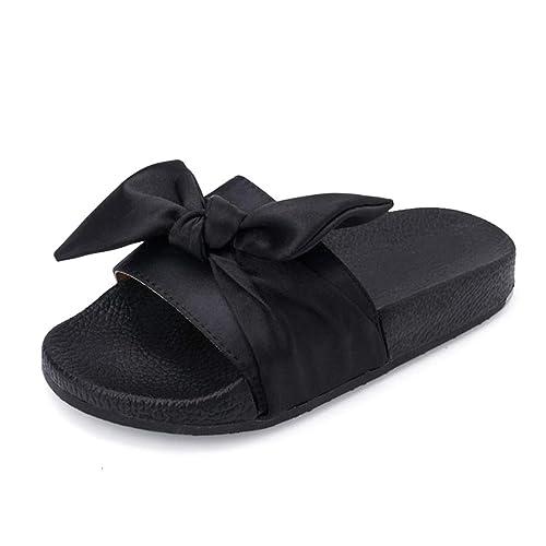 lowest price 6fe68 d27c9 Summer Slippers Women Big Bow Tie Flip Flops Women Beach ...