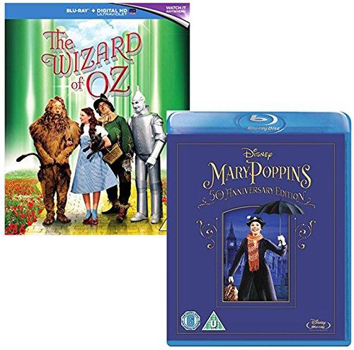 The Wizard Of Oz - Mary Poppins - 2 Movie Bundling Blu-ray (Mary Poppins 50th Anniversary Edition Blu Ray)