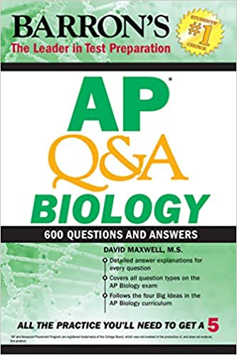 Amazon com: AP Q&A Biology: With 600 Questions and Answers