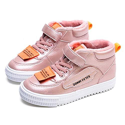 Taille Sneakers Haut Rose Winter Uk Noir Zhrui Enfants Et School Sports Couleur Rose Slip 3 Garçons Anti Blanc Pour 5 0BqZwgqx