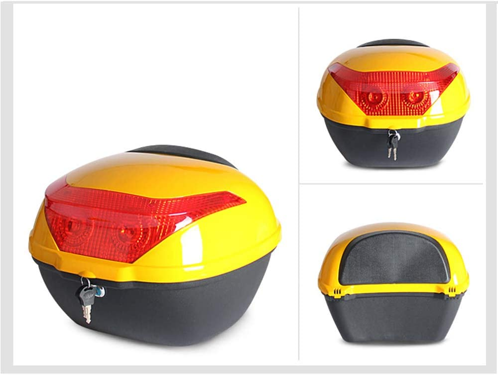 Wear-Resistant Waterproof Humanized Design Top Boxes for Motorbikes ZMCOV Motorcycle Top Box Top Case Luggage Scooter with Night Warning Light