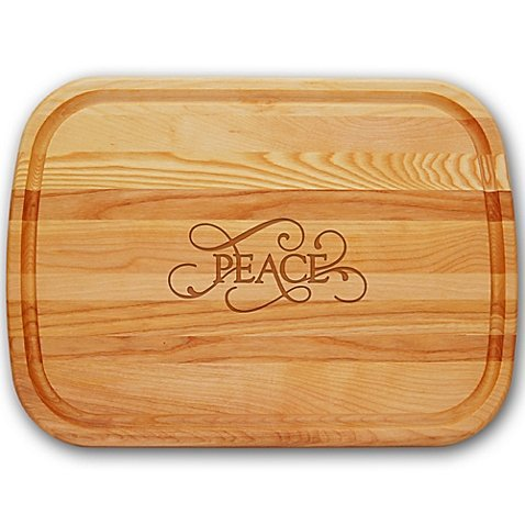 Carved Solutions Everyday Collection ''Peace'' 21-Inch x 15-Inch Cutting Board by Generic
