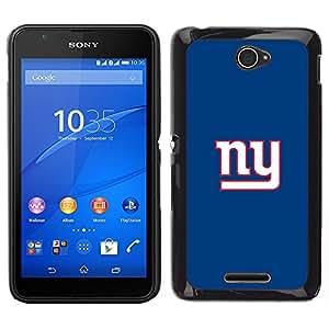Equipo NY - Metal de aluminio y de plástico duro Caja del teléfono - Negro - Sony Xperia E4