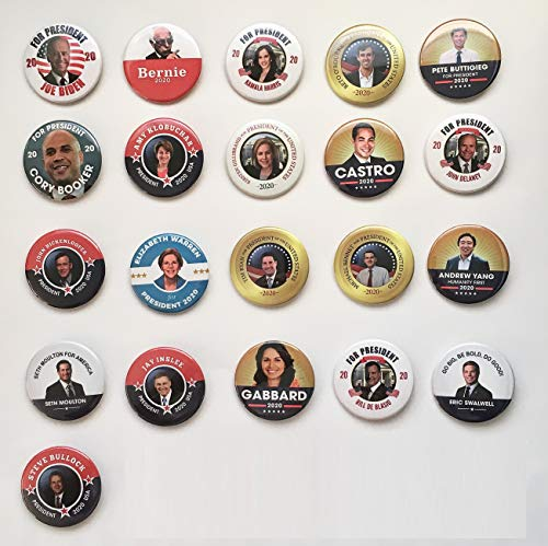 - PresidentialElection.com 2020 Democrat Candidates - Kick-Off Debate Collector's Set of 20, 2.25 inch Buttons