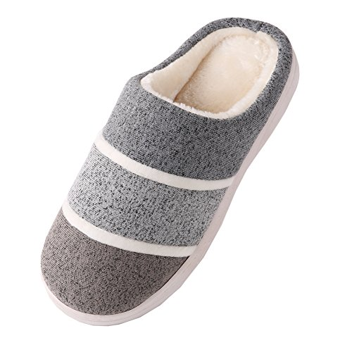 slippers Cotton winter shoes home plush fabrics Gray warm Knitted Unisex boots 615qxtnzSw