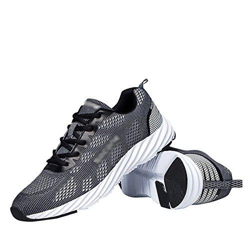 Fereshte Unisex Paar Heren Womens Casual Fashion Sneakers Mesh Ademend Athletic Sportschoenen Zwart