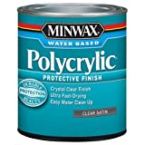 Minwax 233334444 Minwaxc Polycrylic Water Based Protective Finishes, 1/2 Pint, Satin