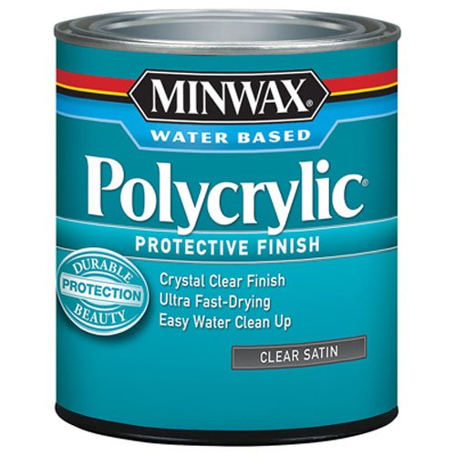 (Minwax 233334444 Minwaxc Polycrylic Water Based Protective Finishes, 1/2 Pint, Satin)