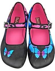 Hot Chocolate Design Chocolaticas Dark Butterfly Womens Mary Jane Flat