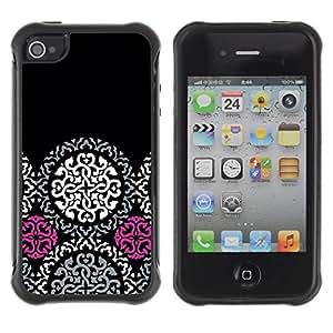 Suave TPU GEL Carcasa Funda Silicona Blando Estuche Caso de protección (para) Apple Iphone 4 / 4S / CECELL Phone case / / Celtic Pattern Dark Goth /