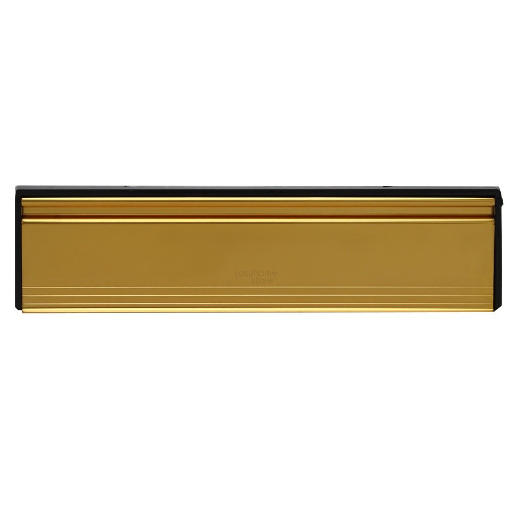 gold sleeved letter box cover complete internal and external draught excluder amazoncouk computers accessories - Letter Box Covers