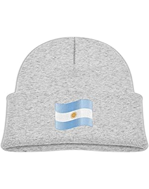 Funny Wavy Argentina Flag Printed Toddlers Baby Winter Hat Beanie