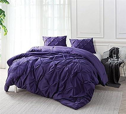 74d98eb51e Amazon.com: Byourbed Purple Reign Pin Tuck Twin XL Comforter: Home ...