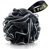#3: Bath Loofahs Sponge Shower Pouf Body Scrubber Ball Mesh Pouf Bath Sponge 3 Pack