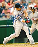 Autographed Steve Pearce Photograph - 8x10 BOSTON RED SOX COA - Autographed MLB Photos