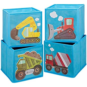 Bon Ava U0026 Kings Foldable Fabric Storage Cube Container Bins Shelf Drawers   Kidsu0027  Light Blue