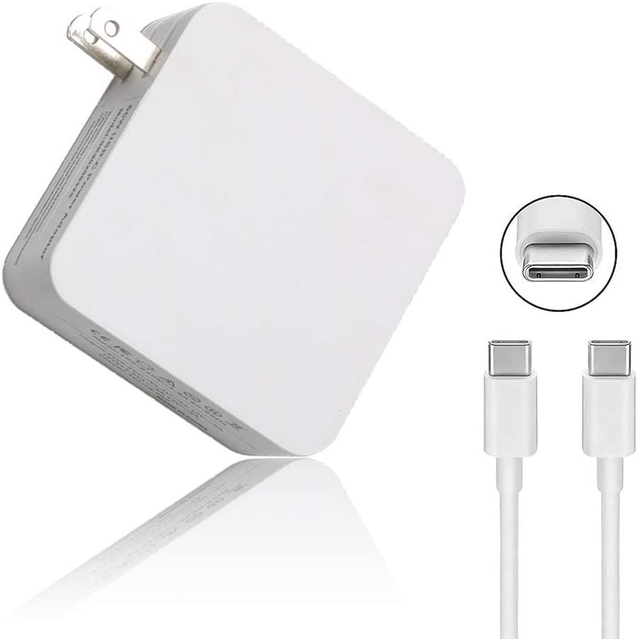 65W/61W USB Type C Power Adapter Charger for MacBook/Pro, Lenovo, ASUS, Acer, Dell, Xiaomi Air, Huawei Matebook, HP Spectre, Thinkpad and Any Other Laptops or Smart Phones with The USB C