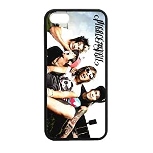 Popular Band Pierce The Veil Printed Case Cover for iphone 5,5S(Laser Technology,Back pc hard & side Silicone)