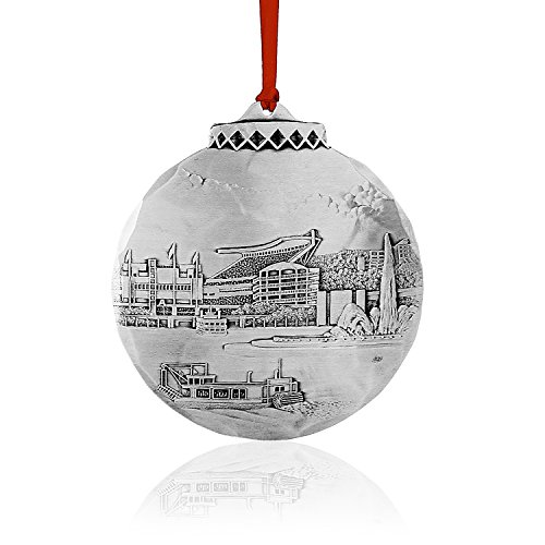 Wendell August Game Time at Heinz Field Ornament, Metal, Beautiful, Handmade in The USA Forge