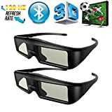 2 X ExquizOn Universal 3D Active Shutter Glasses (Bluetooth) For Sony/Panasonic/Sharp/Toshiba/Mitsubishi/Samsung 3D TV