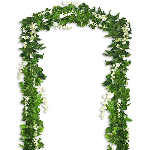 - Bird Fiy Artificial Vine Ivy Garland Wisteria Jungle Vine Artificial Flowers Hanging Vines Faux Silk Greenery Fake Green Leaf Garland Vines of Artificial Plants Jungle Party Outdoor Décor