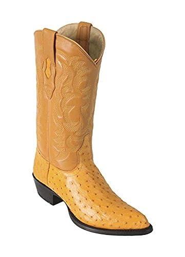 e4f55fc596f Amazon.com | Men's J-Toe Buttercup Genuine Leather Ostrich Skin ...