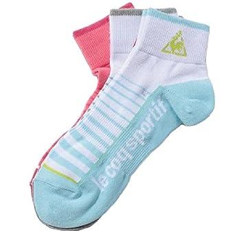 ソックス 靴下 レディース ルコック lecoqsportif くつした 3足組 ショート丈 フィットネス スポーツ カジュアル スニーカーソックス
