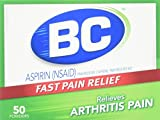 BC Arthritis Formula Pain Reliever Fever Reducer Powder, 50 each (Pack of 2)
