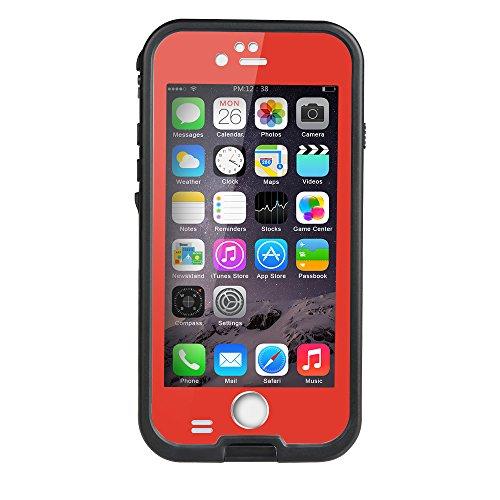 iPhone 6 / 6s Waterproof Case, Tomplus 6.6ft Underwater Waterproof Shockproof Dirtproof Snowproof Full Sealed Protective Case for Apple iPhone 6 / 6s 4.7 inch (Red)