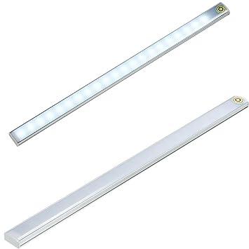 Acxeon LED Lichtleiste Unterbauleuchte LED Streifen Leiste 30CM, Touch  Schalter Steuerung Justierbare Helligkeit Für Schlafzimmer
