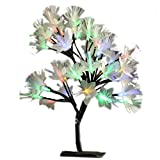 MHOLFB LED Cherry Blossom Tree Light Lamp Artificial Branches Fiber Optic Flowerers Desk Bonsai lamp Decoration for Home Indoor Festival Party Wedding Christmas 0.4M/15.75 Inch 40 Bulbs (Multicolor)