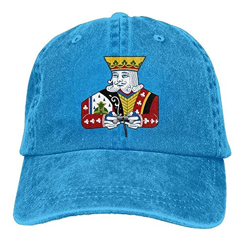 Discoveredthesecret Funny Poker Card Denim Baseball Caps Hat Adjustable Cotton Sport Strap Cap for Men Women ()