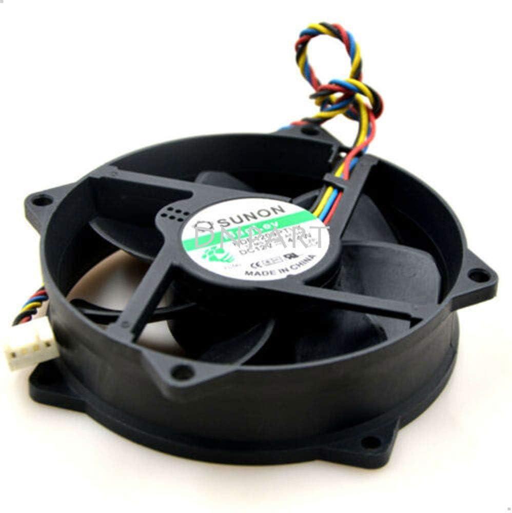 DNPART Compatible for SUNON 9cm 909025MM KDE1209PTVX 12V 4.4W/7.0W 4Pin Cooling Fan