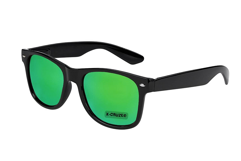 X-CRUZE 3er Pack X0 Nerd Sonnenbrillen polarisierend Vintage Retro Style Stil Unisex Herren Damen Männer Frauen Brillen Nerdbrille Nerdbrillen - schwarz matt LW - Set B - XgcZcFeKIE